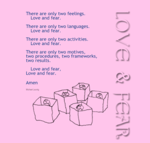 Love and fear in boxes