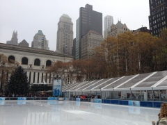Skating at Bryant Park
